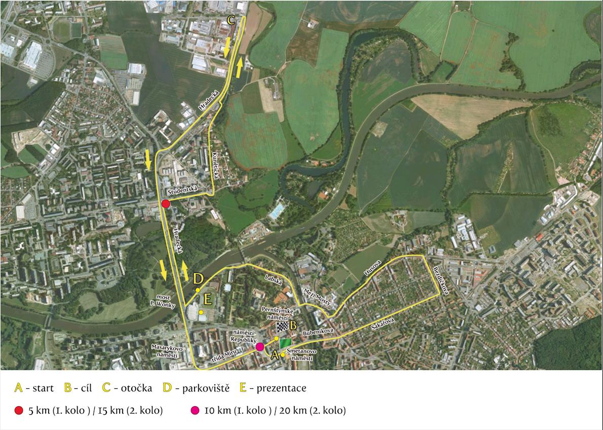 Pardubice Wine Half Marathon Mappa del percorso