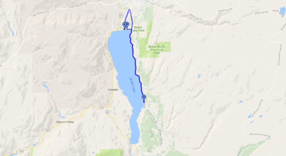 Peach City Runfest Route Map