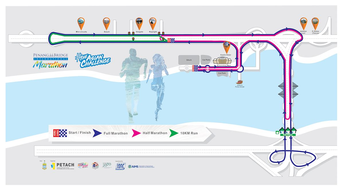 Penang Bridge International Marathon 路线图