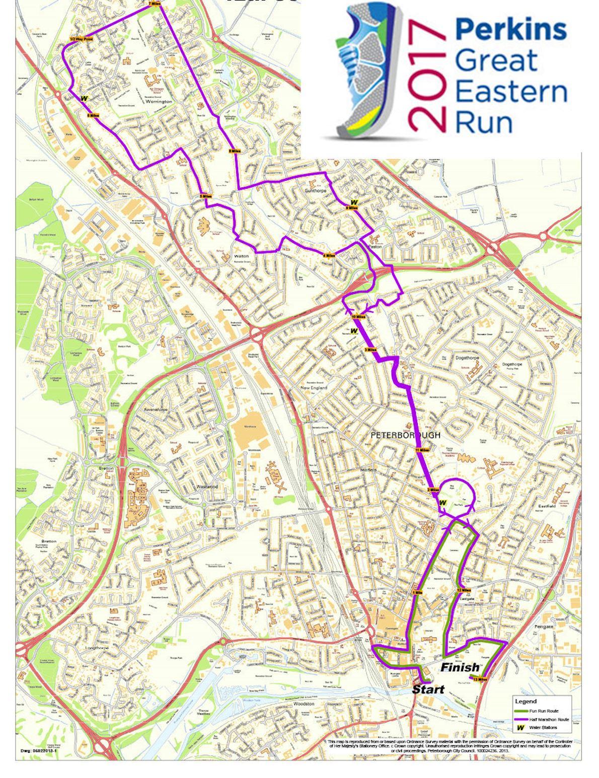 Perkins Great Eastern Run Mappa del percorso