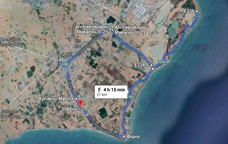 Pervolia run Route Map