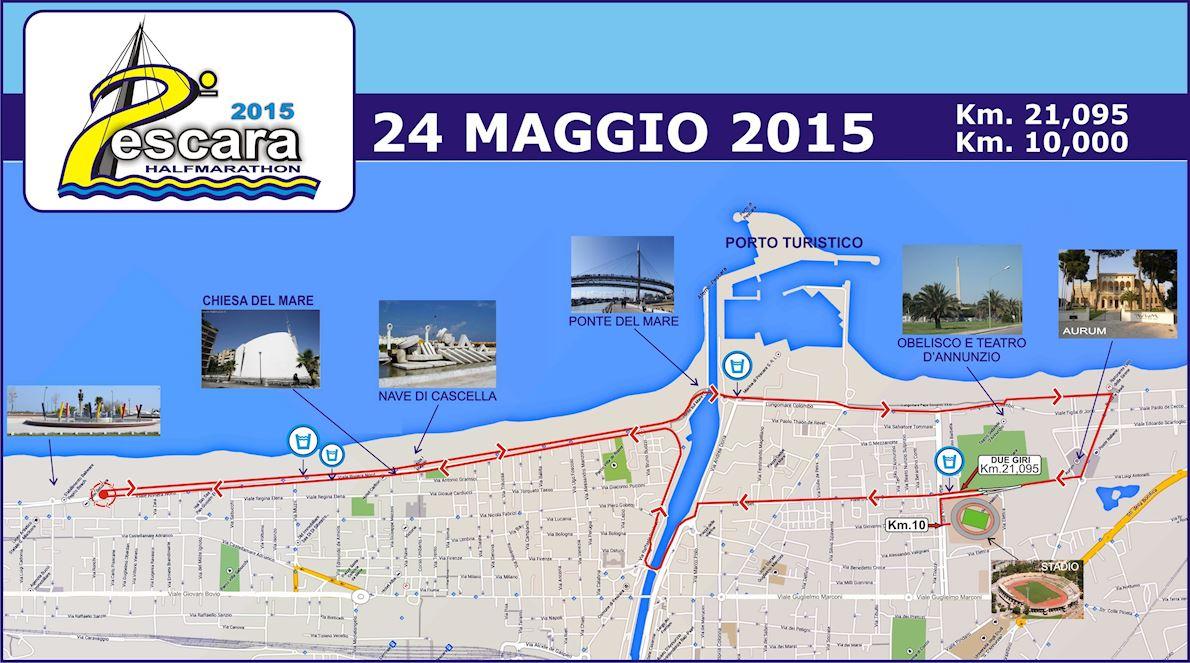 Maratonina del Mare Mappa del percorso