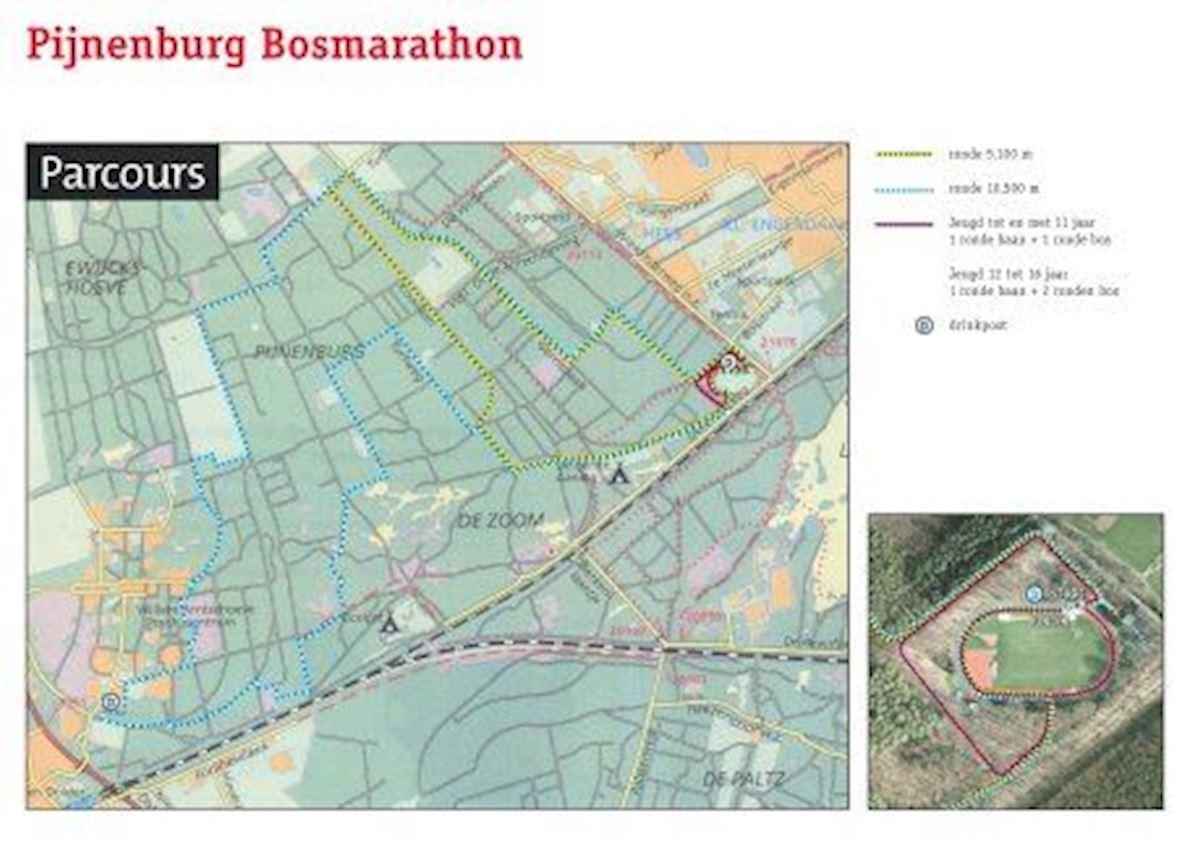 Pijnenburg Bosmarathon Route Map