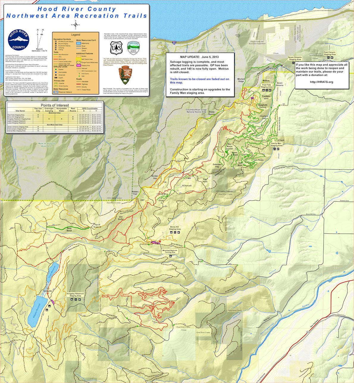 Post Canyon 50k & Half Marathon 路线图