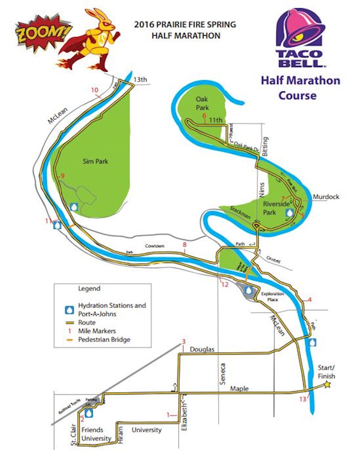 Prairie Fire Spring Half Marathon MAPA DEL RECORRIDO DE