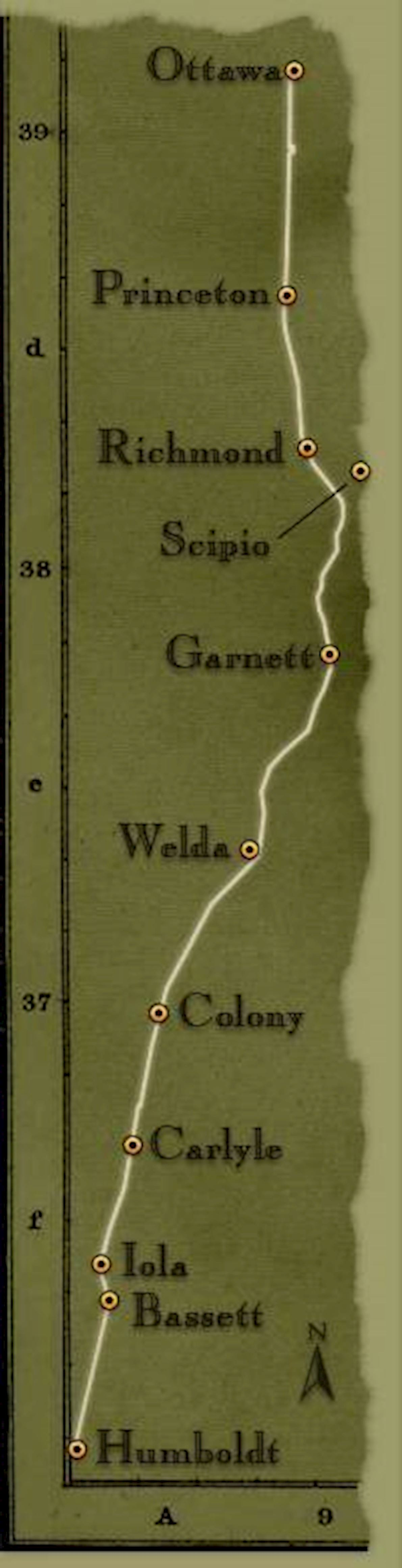 Prairie Spirit Trail MAPA DEL RECORRIDO DE
