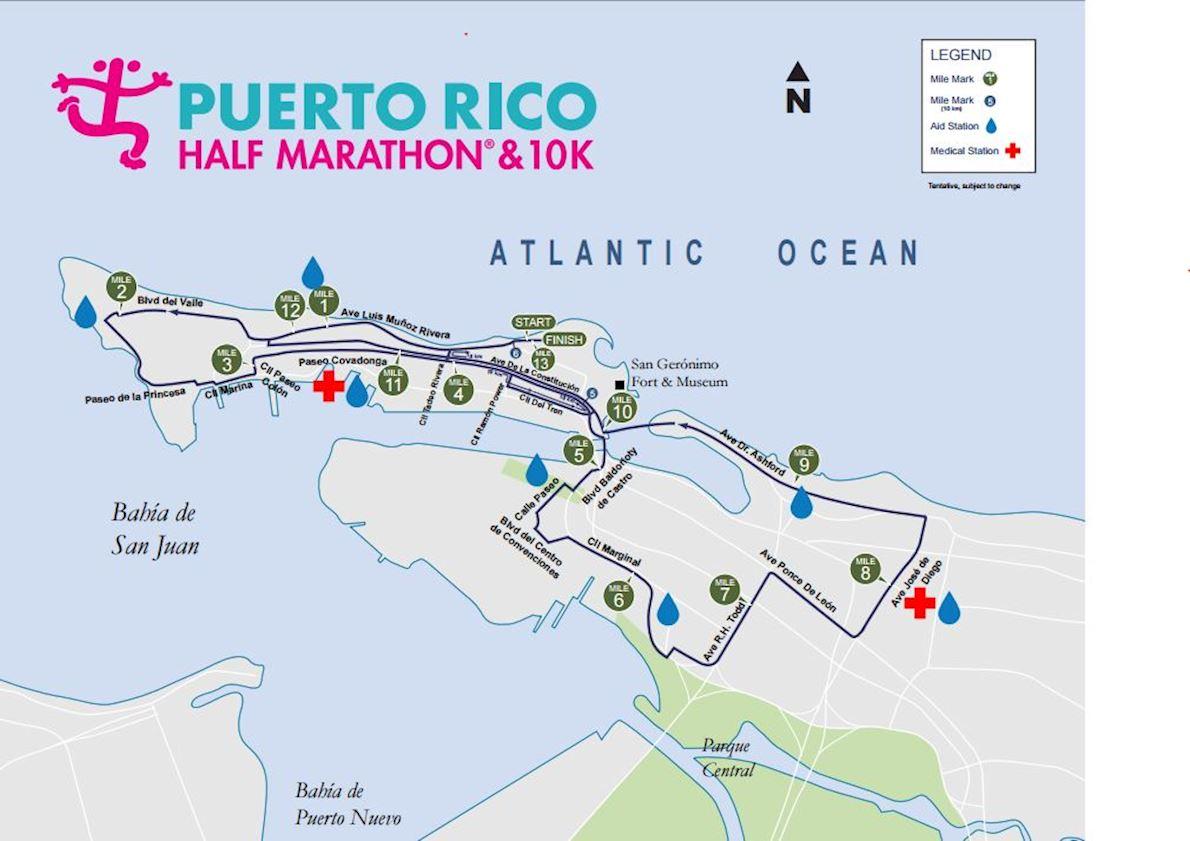 Puerto rico half marathon worlds marathons puerto rico half marathon route map gumiabroncs Images