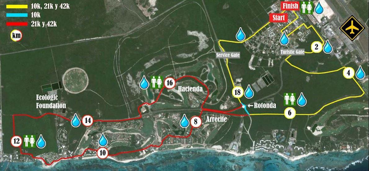 Punta Cana Marathon Routenkarte