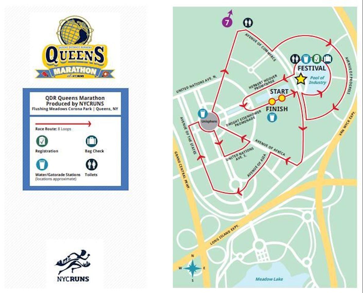 Queens Marathon 路线图
