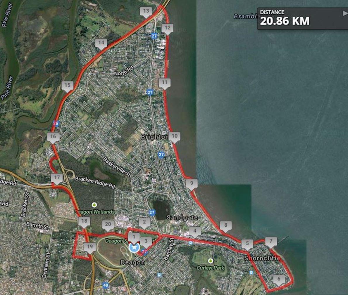 Queensland Half Marathon MAPA DEL RECORRIDO DE