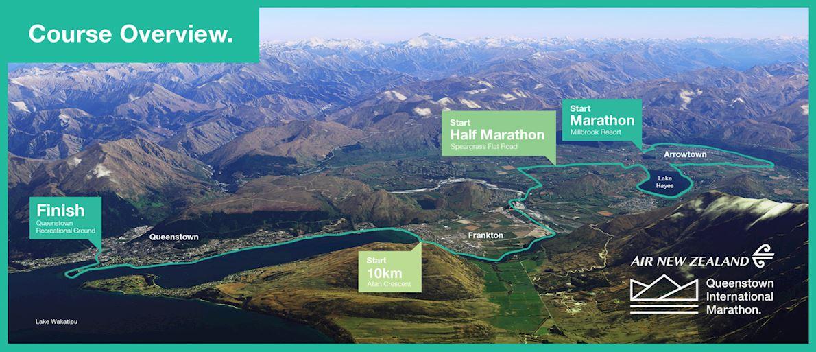 Queenstown International Marathon Route Map