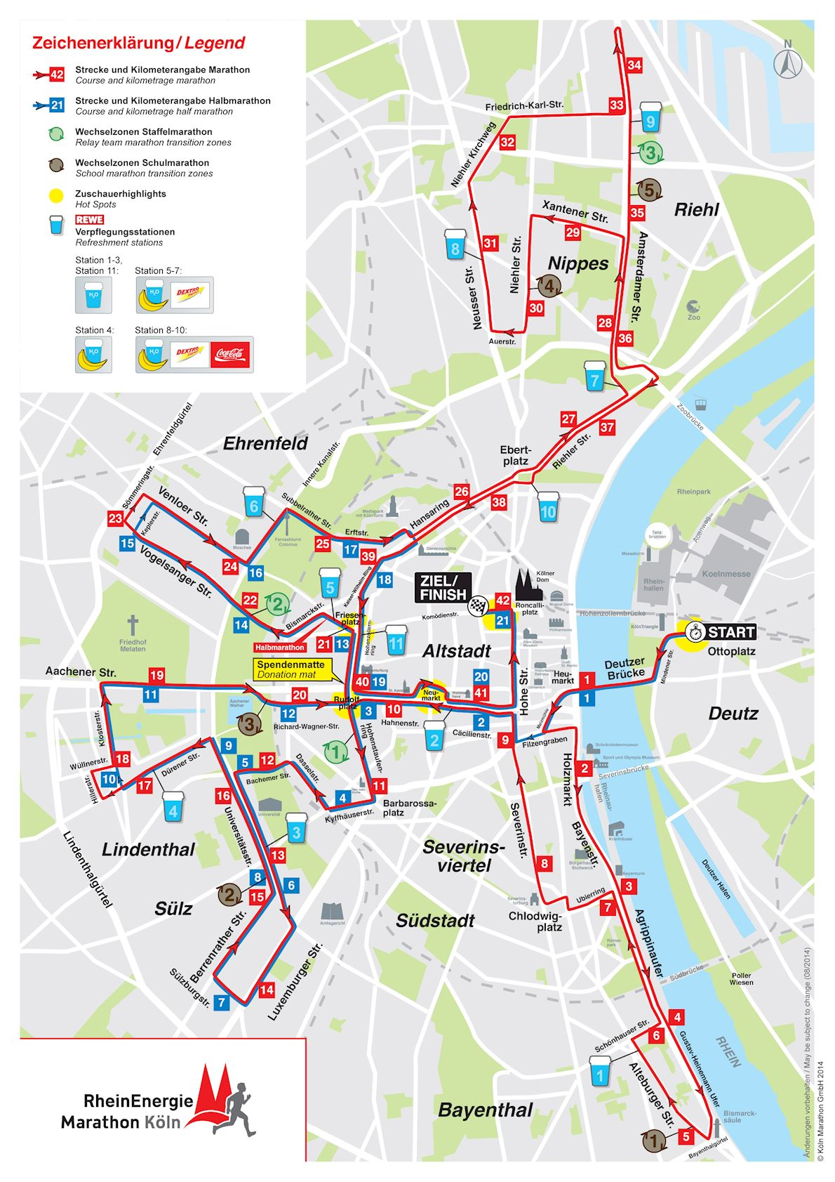 Köln Marathon Route Map