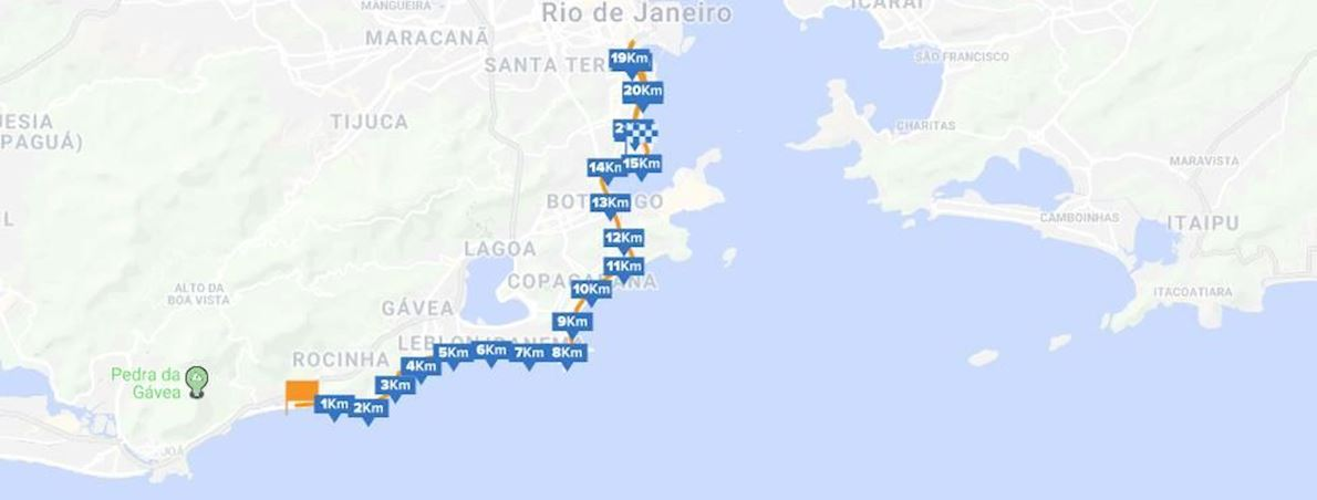 Meia Maratona Internacional do Rio de Janeiro Route Map