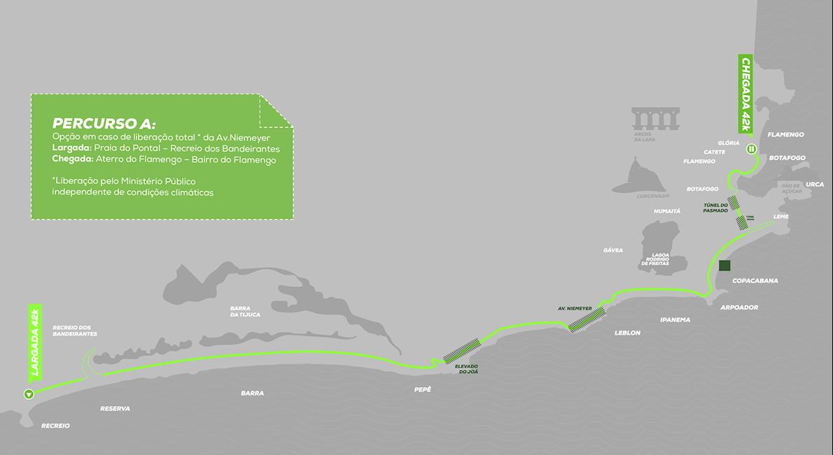 Rio de Janeiro Marathon Mappa del percorso