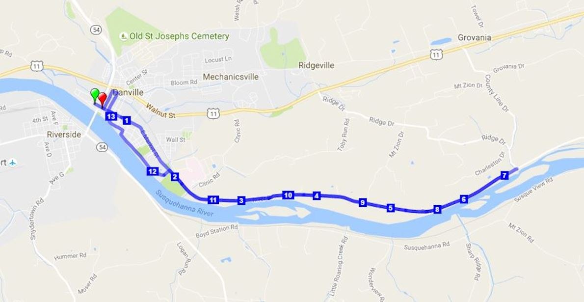 River Towns Half Marathon MAPA DEL RECORRIDO DE