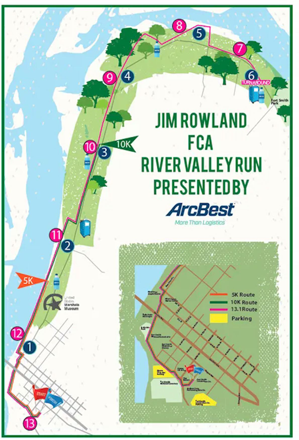 Jim Rowland FCA River Valley Run MAPA DEL RECORRIDO DE