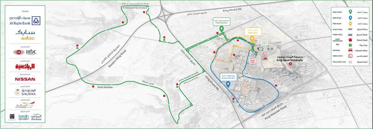 Riyadh Marathon MAPA DEL RECORRIDO DE