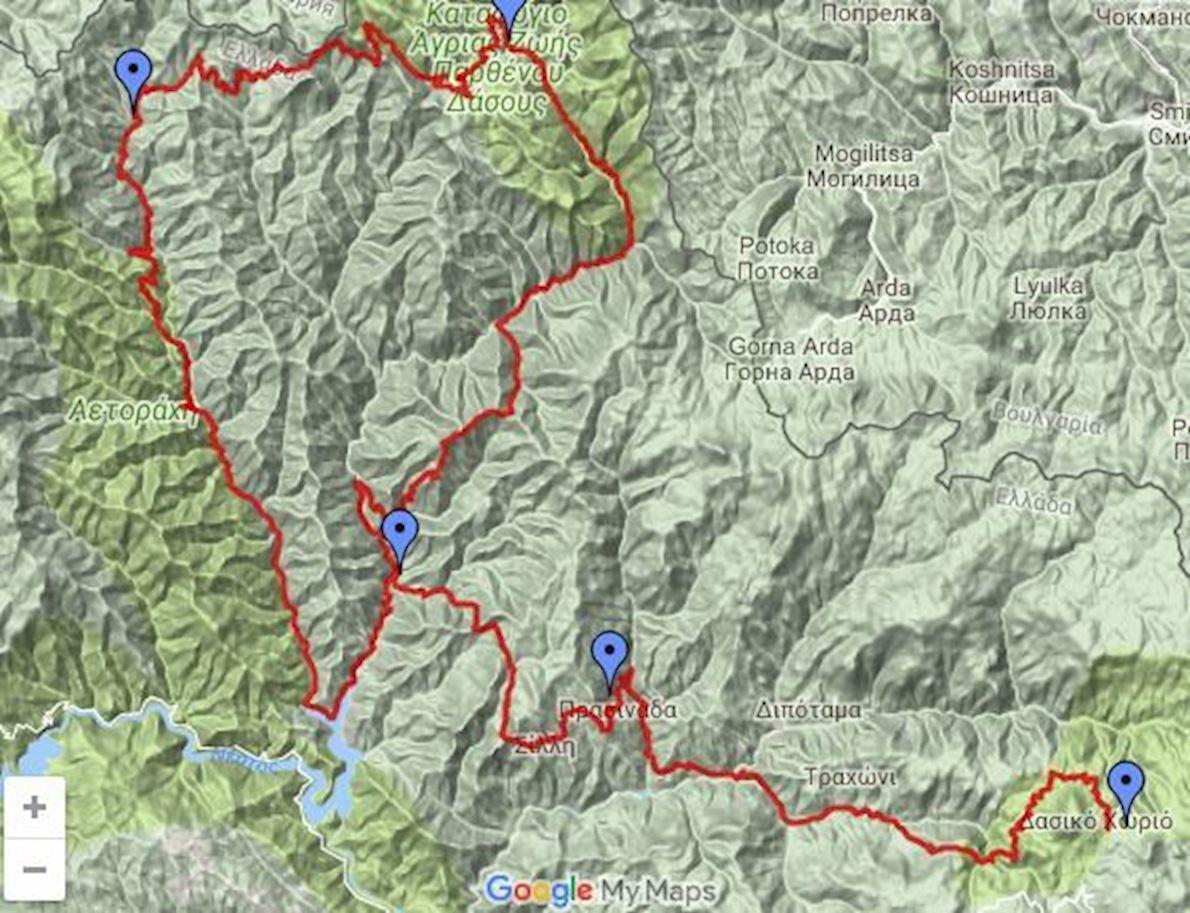 Rodopi Classic 100 Miles 路线图
