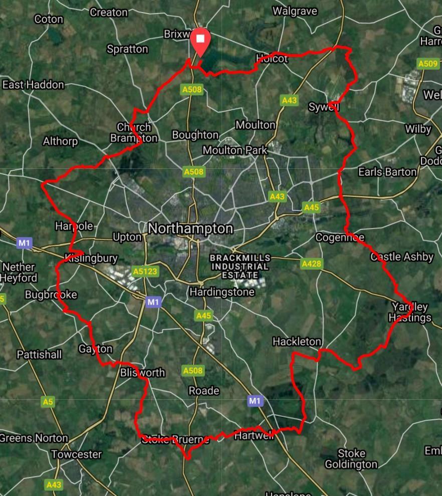 Rose of the Shires Ultra Mappa del percorso