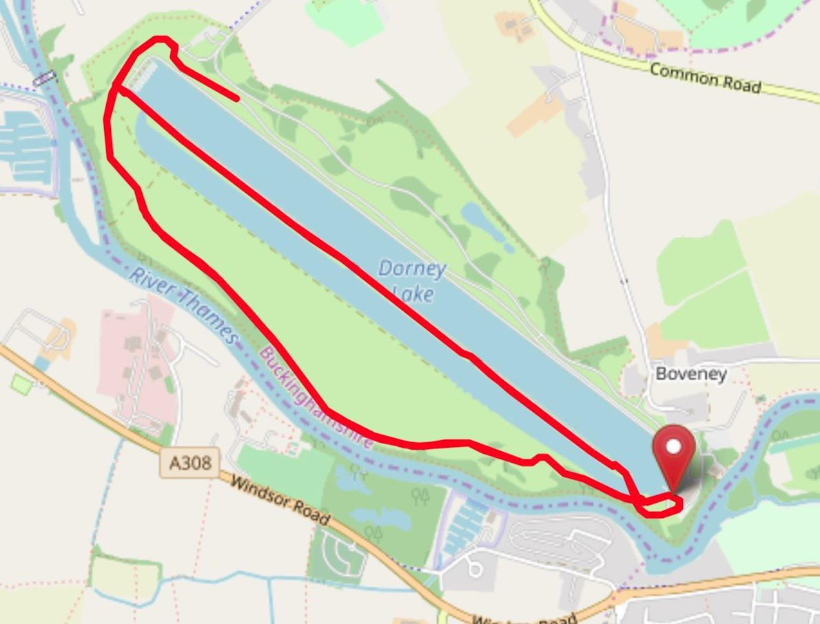 Run Dorney Lake November Route Map