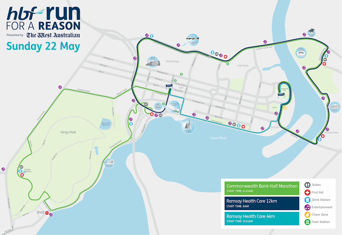 HBF Run for a Reason Route Map