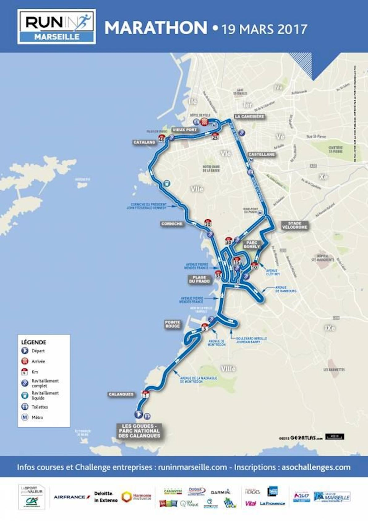 Run in Marseille Route Map