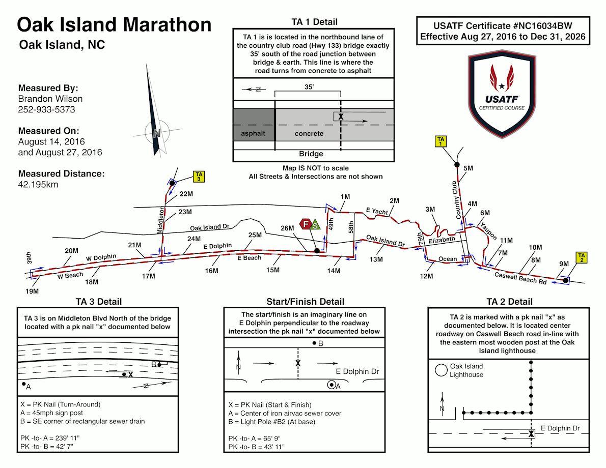 Run Oak Island Route Map