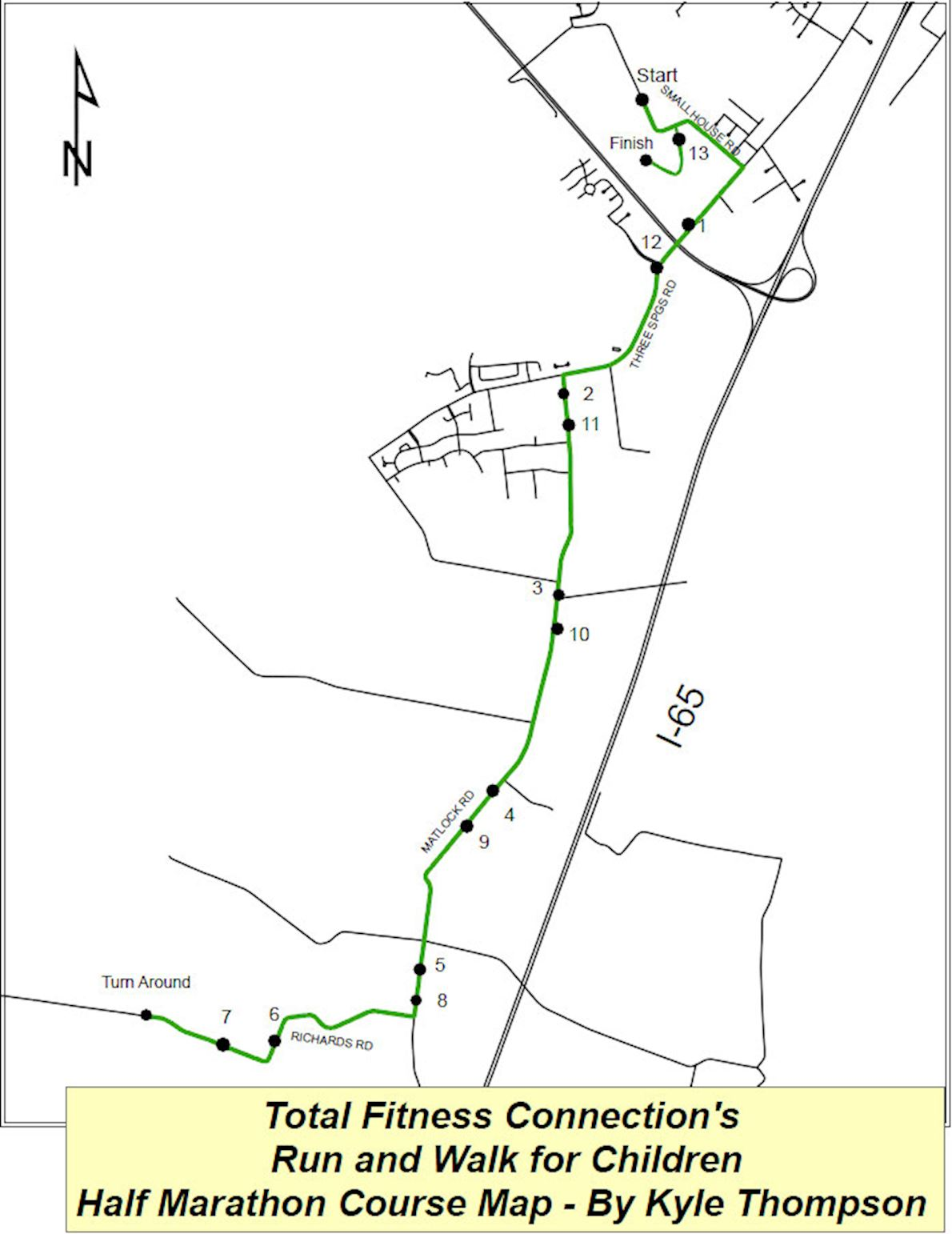 Run & Walk For Children Route Map