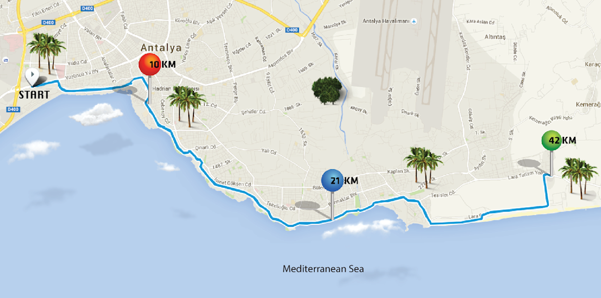 Runatolia Marathon Route Map