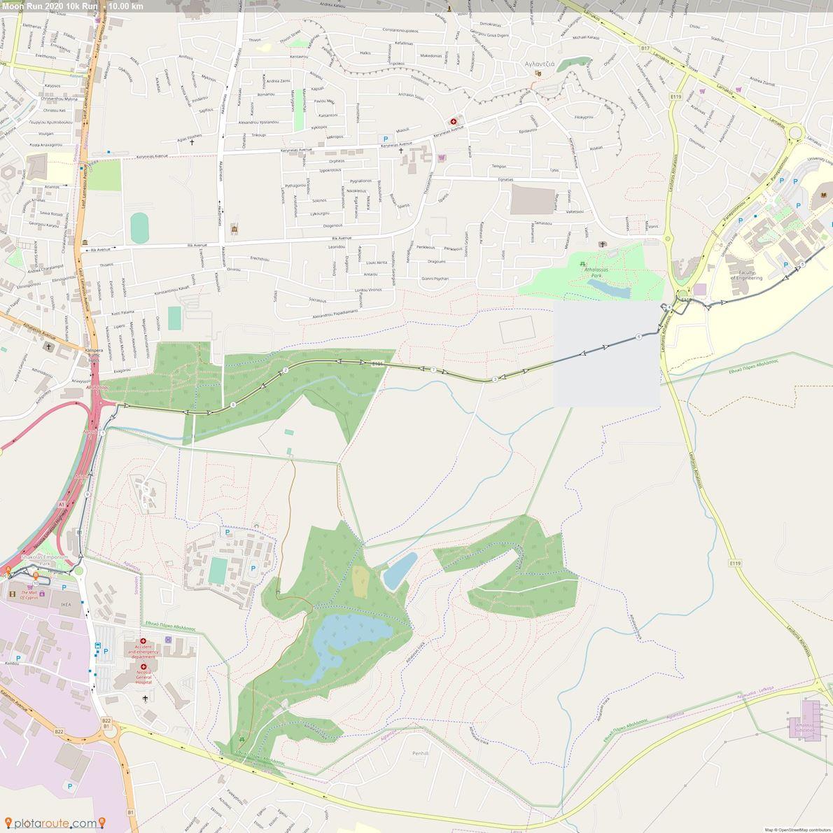 #moonrun Route Map
