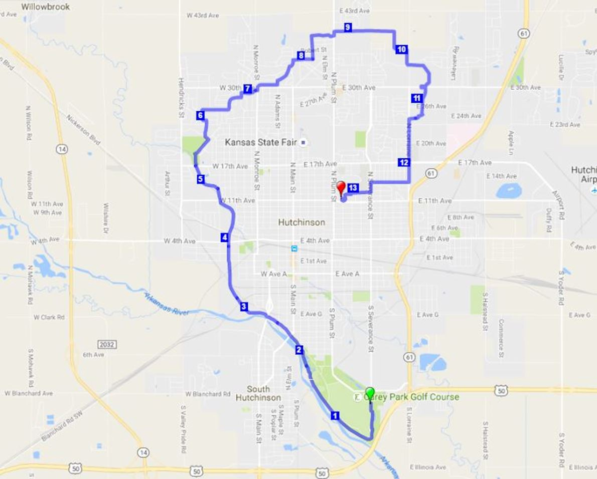 Salt City Half Marathon Route Map