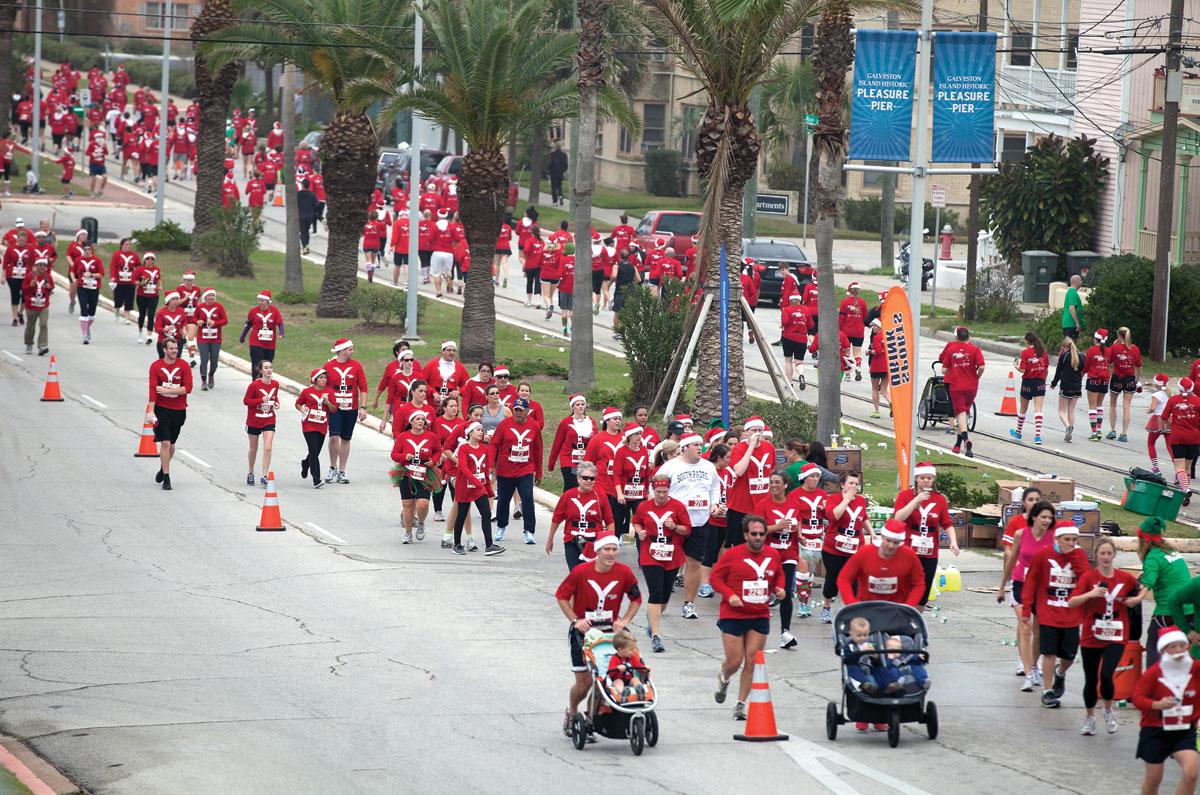 Alles over de Santa Hustle Galveston 5k Half Marathon en hoe jij er aan mee kunt doen
