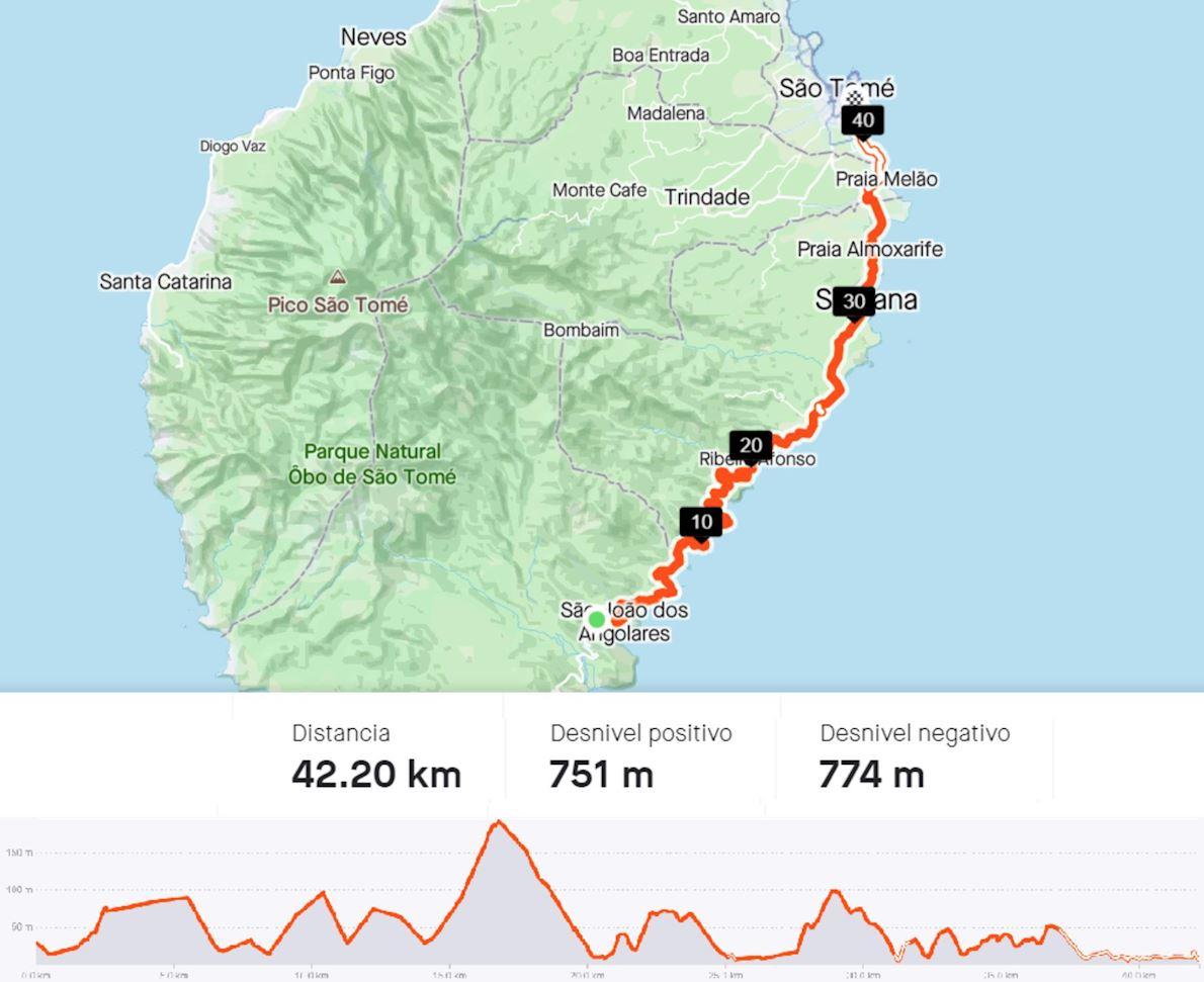 Sao Tome Marathon Mappa del percorso