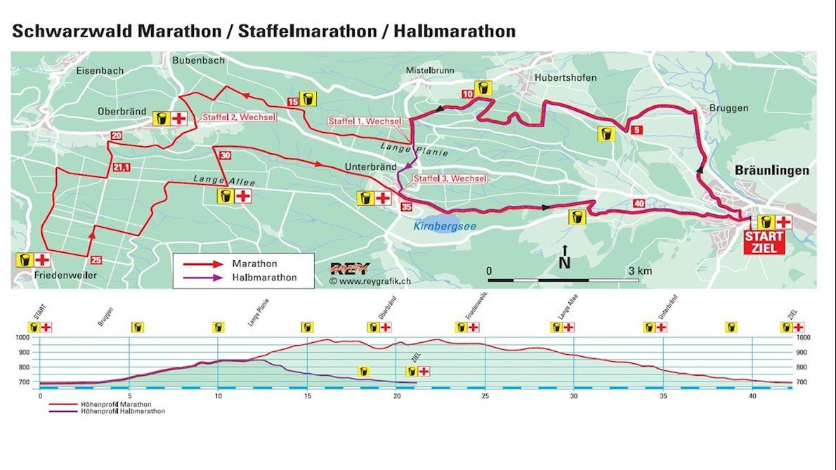 Int. Schwarzwald-Marathon Route Map