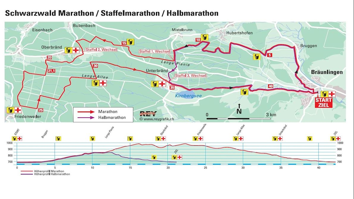 Int Schwarzwald Marathon Route Map