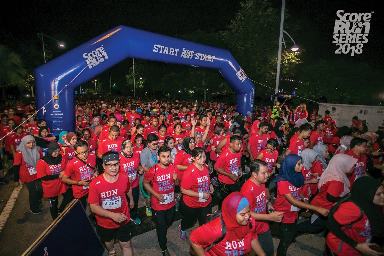 score marathon run the night