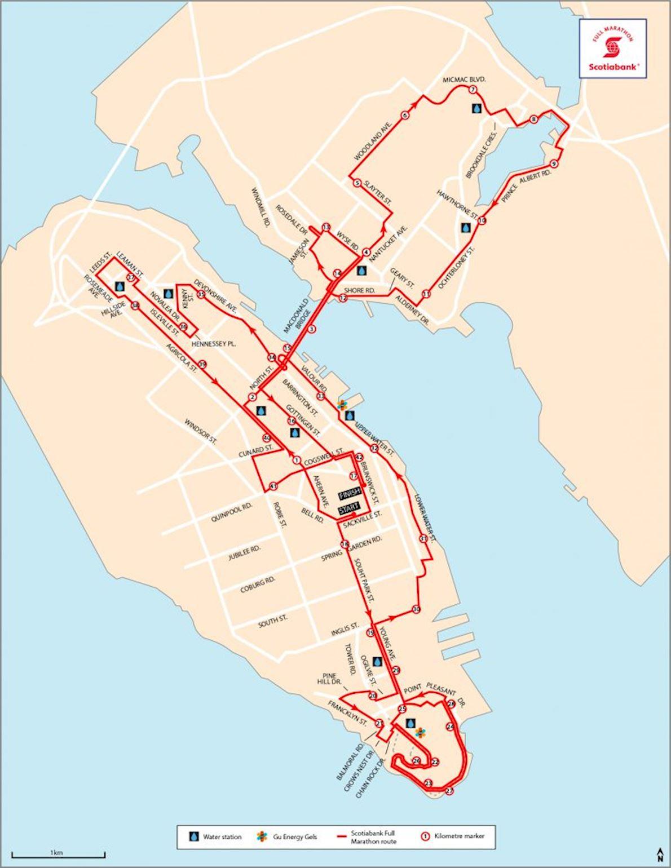 Scotiabank Blue Nose Marathon MAPA DEL RECORRIDO DE