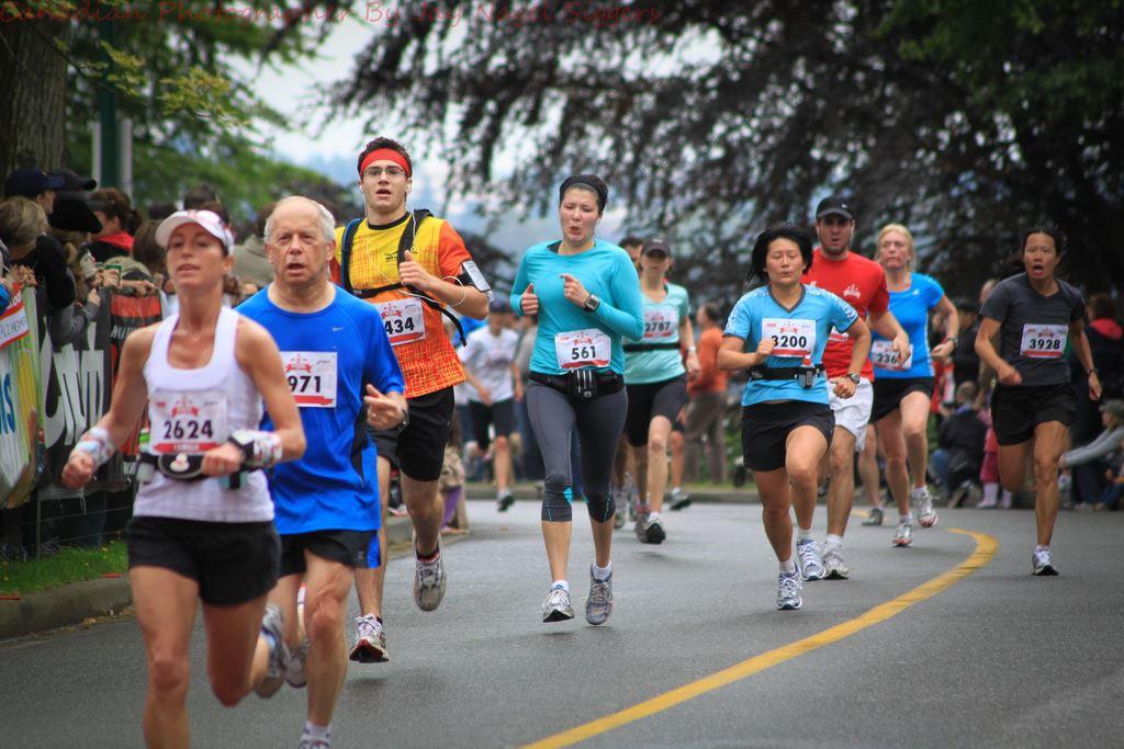 scotiabank vancouver half marathon 5k run walk