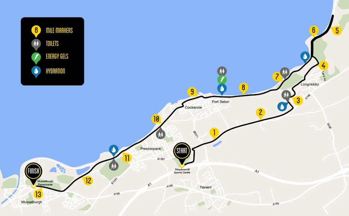 Scottish Half Marathon & 10K Route Map
