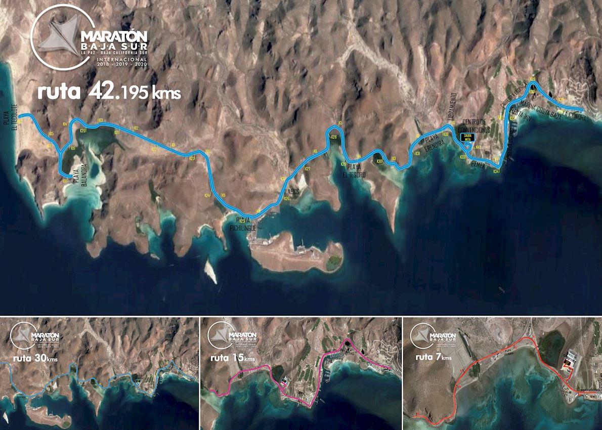 MARATHON•BAJA SUR Amstel ULTRA Route Map
