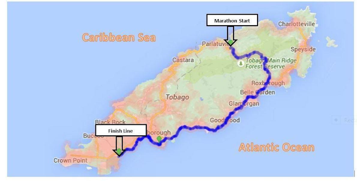 Sea to Sea Marathon 路线图