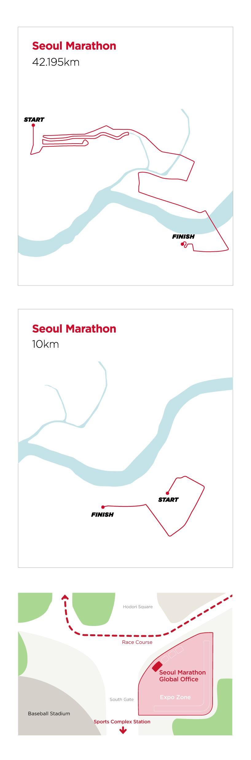 Seoul Marathon 2020 Route Map