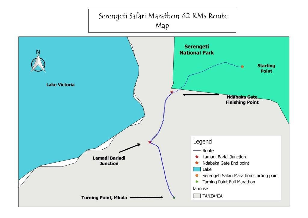 Serengeti Safari Marathon Route Map
