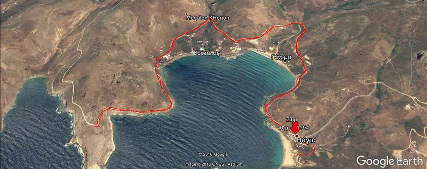 Serifos Sunset Race Route Map
