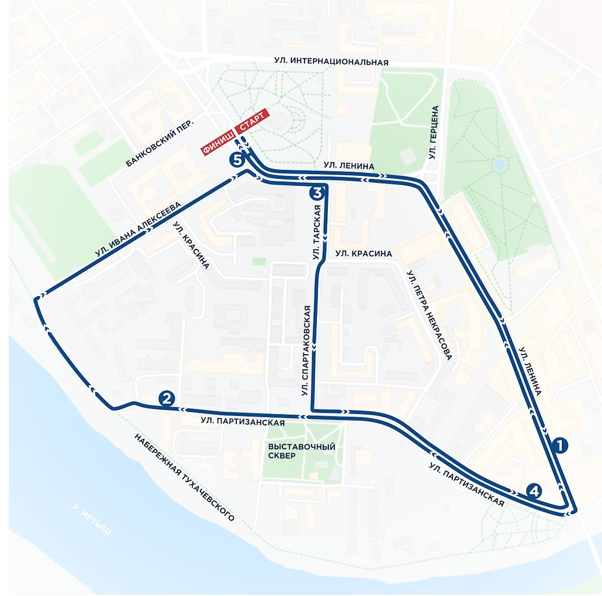 Siberian Ice Half Marathon Mappa del percorso