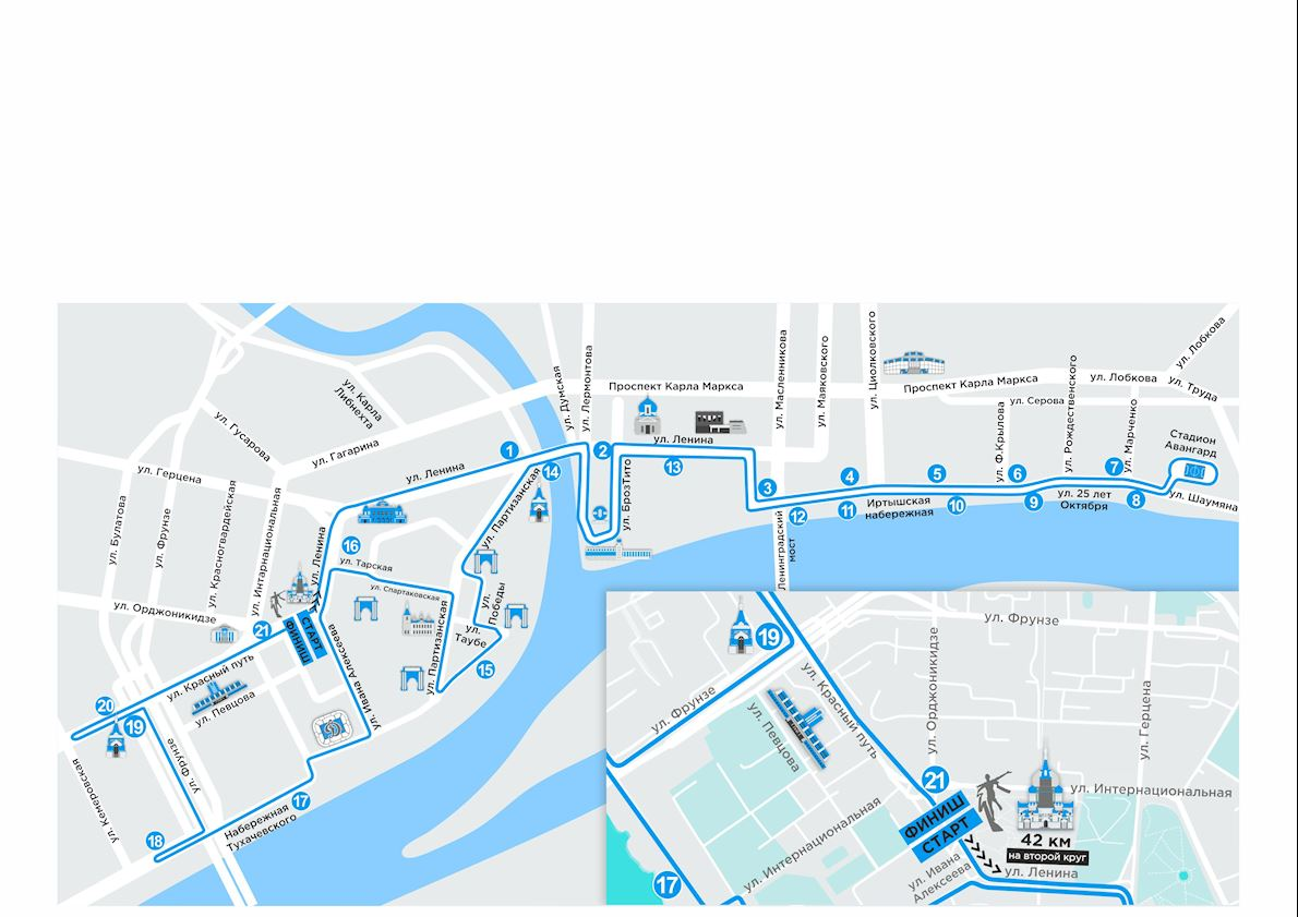 Siberian International Marathon Route Map