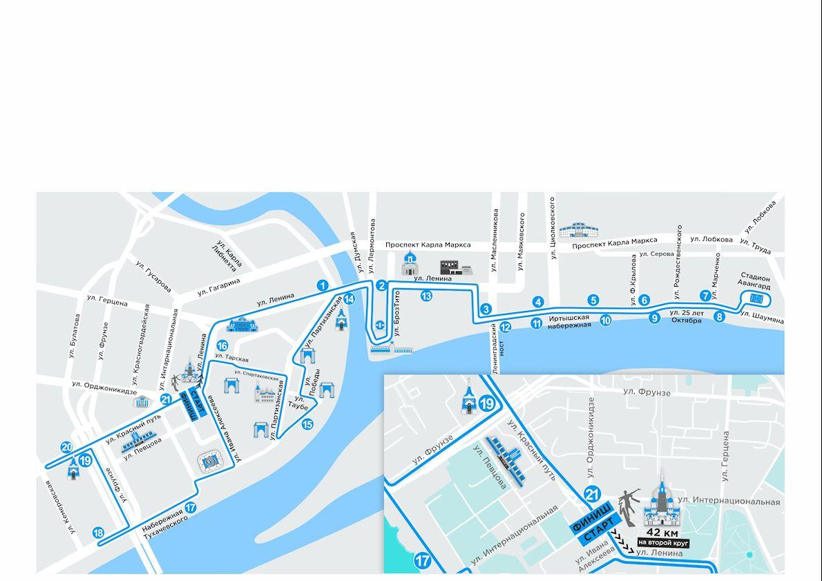 Siberian International Marathon Mappa del percorso