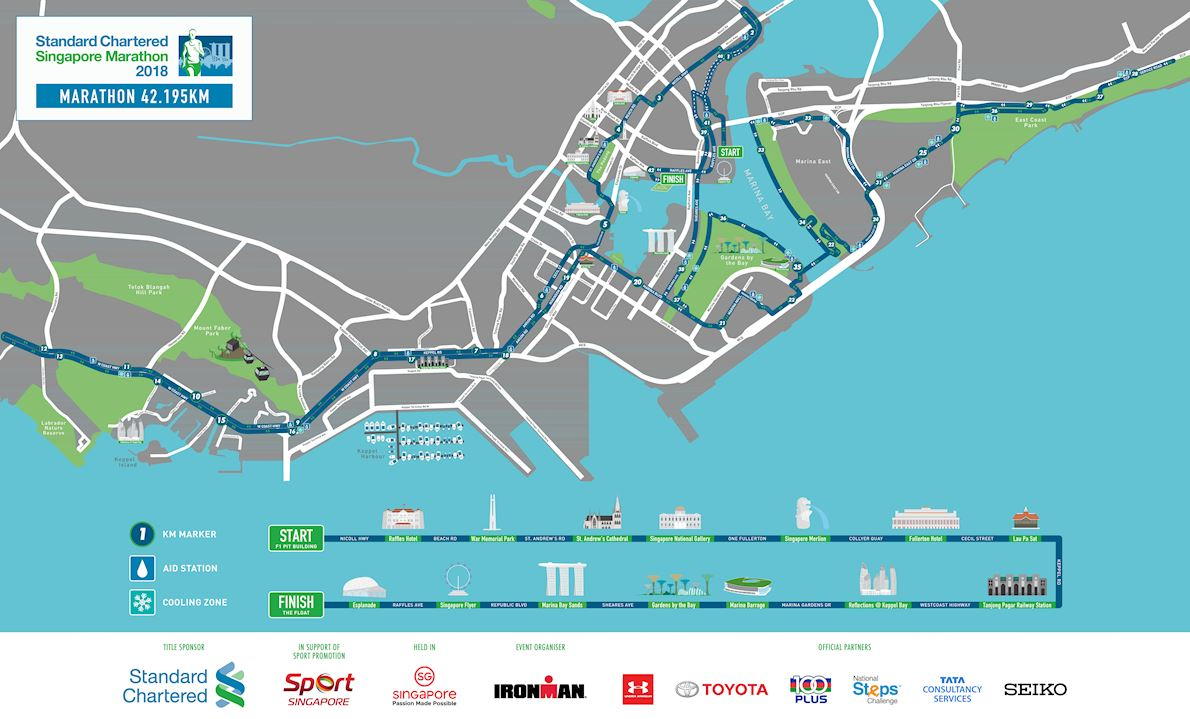 Standard Chartered Singapore Marathon 路线图