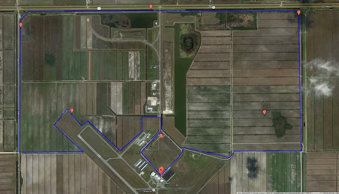 Florida Skydive Ultra Run 路线图