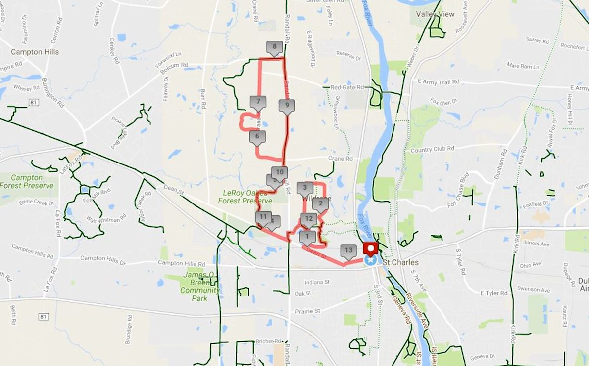 Sly Fox Half Madness Route Map
